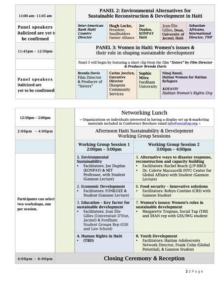 Conference Agenda Page 2